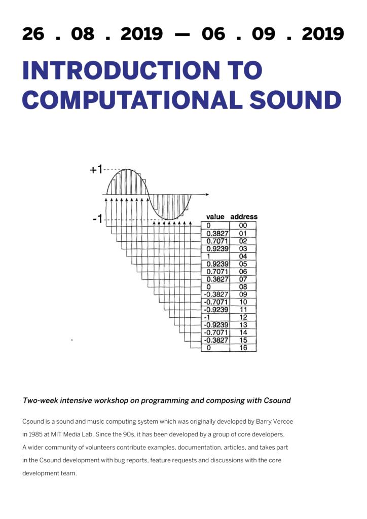 Csound poster